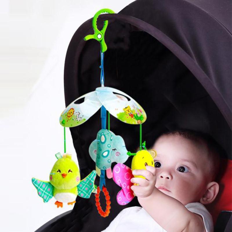 新款宝宝抓握听觉婴儿玩具0-1岁2宝宝早教益智床铃 车挂床挂批发