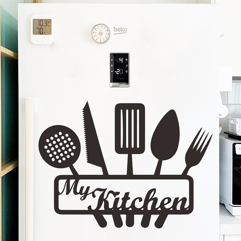 fashion restaurant dining tool tips wall stickers  NHAF357506
