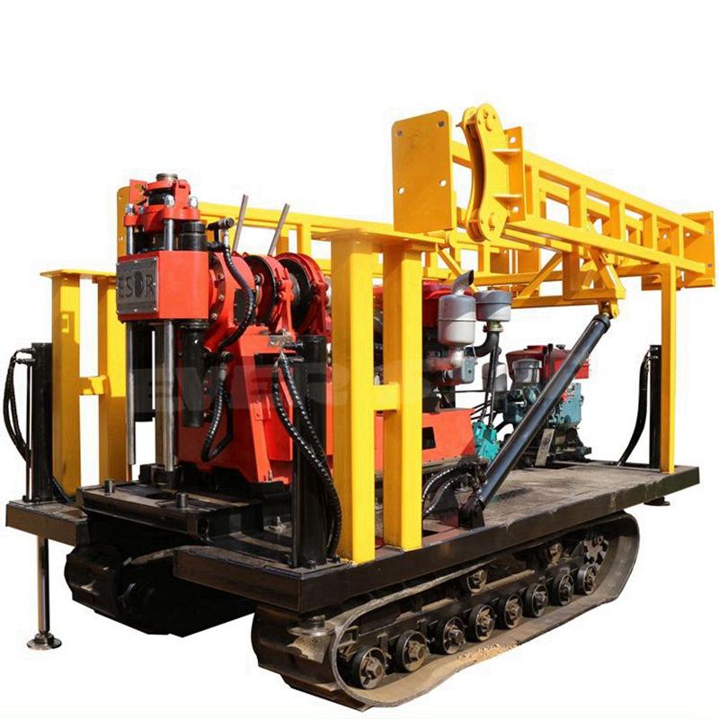 广东250米小型水井钻机 液压取芯履带钻机 地质勘探设备徐州供应