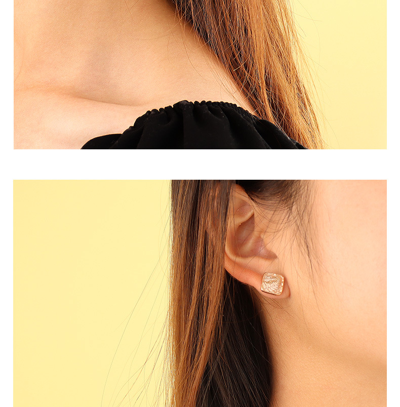 Korea simple leaf earrings  NHOK307887
