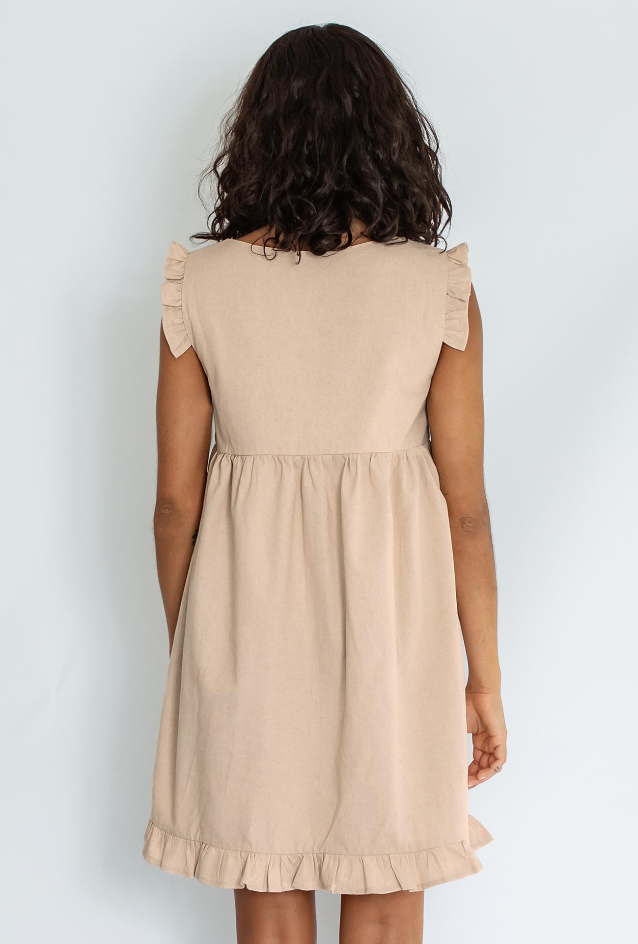 new ruffled square collar loose dress NSYSB47840