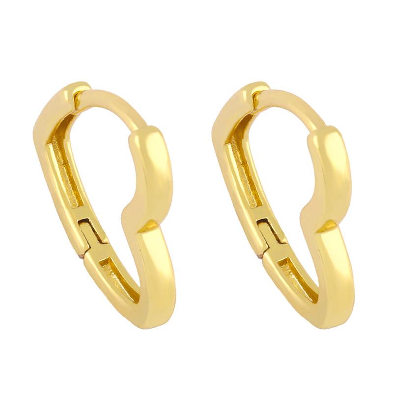 Korean glossy love earrings NHAS311776