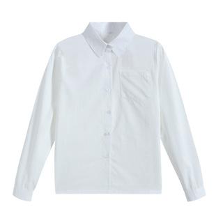Япония JK форма с длинными рукавами рубашка японский униформа длинный рукав острый воротник Рога непроницаемый