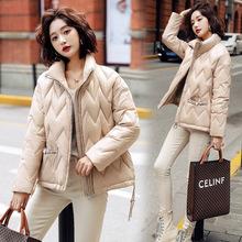 2020冬装新款时尚气质短款羽绒服保暖拼接韩版宽松淑女白鸭绒外套