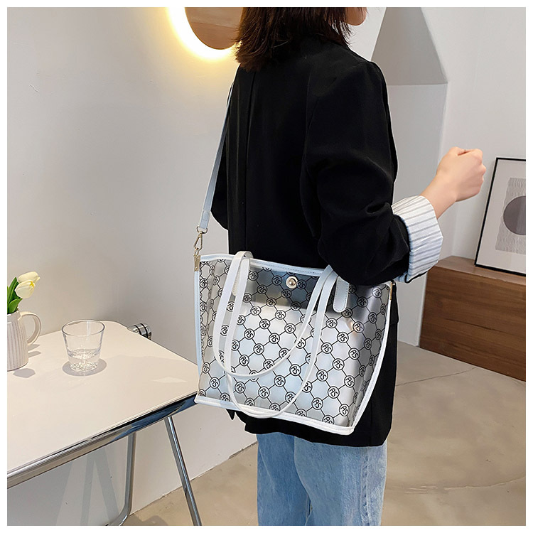 Fashion transparent tote bag shoulder bag  NHJZ337629
