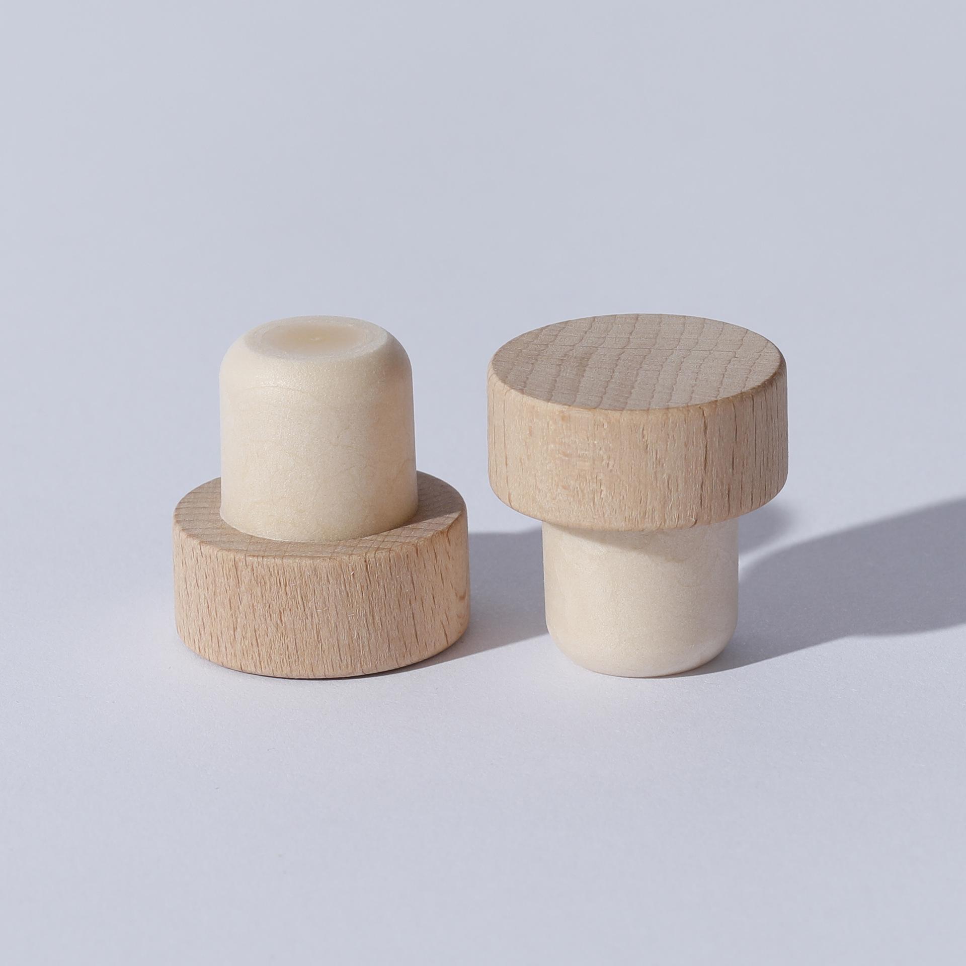 木头塞高分子瓶塞  新结构嵌件无胶水