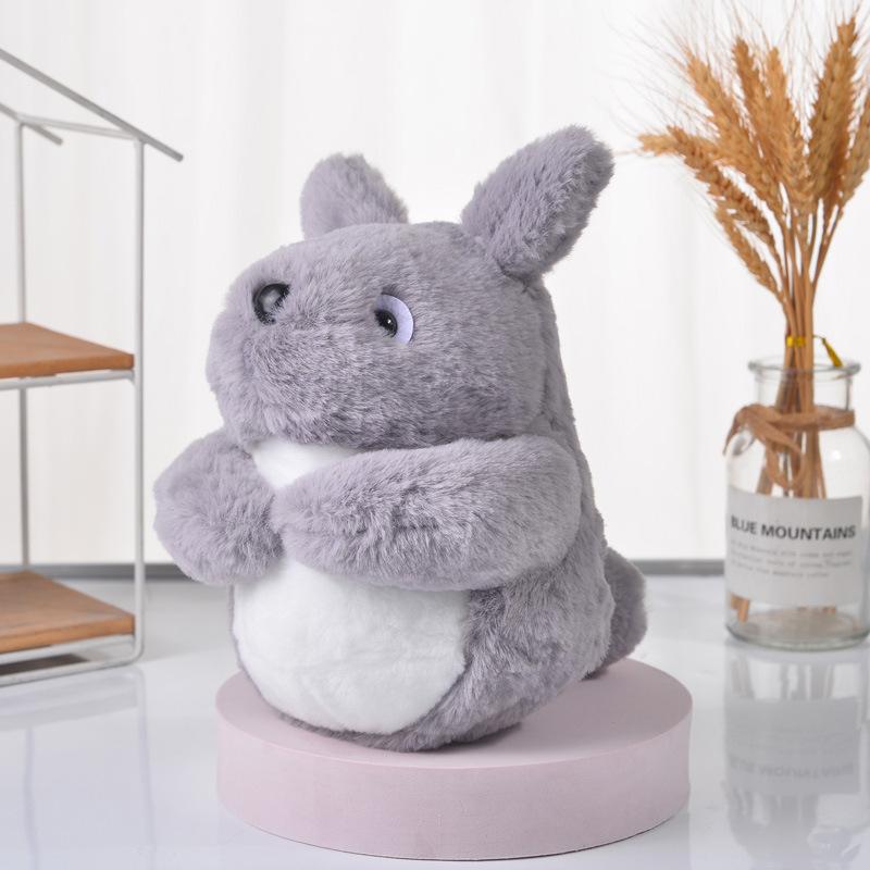 日本宫崎骏龙猫公仔兔毛绒龙猫布偶摆件可爱卡通Q版龙猫玩偶娃娃