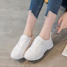 女鞋2021年春新款时尚运动鞋女厚底透气小白鞋舒适慢跑休闲女单鞋