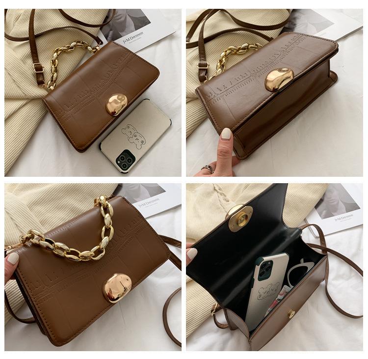 fashion casual small square retro bag NHEX305724