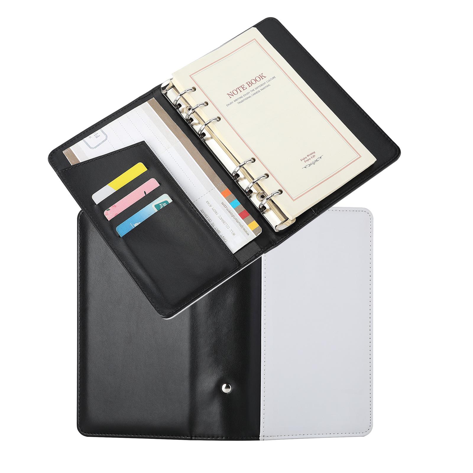 热转印PU活页替芯手账本海洋格子手帐本活页本笔记本日记本薄
