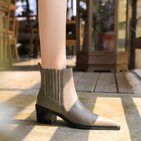 009-1 in Europe and the British wind restoring ancient ways is thick with high heel pointed wood grain with fashionable joker knights of female boots boots boots