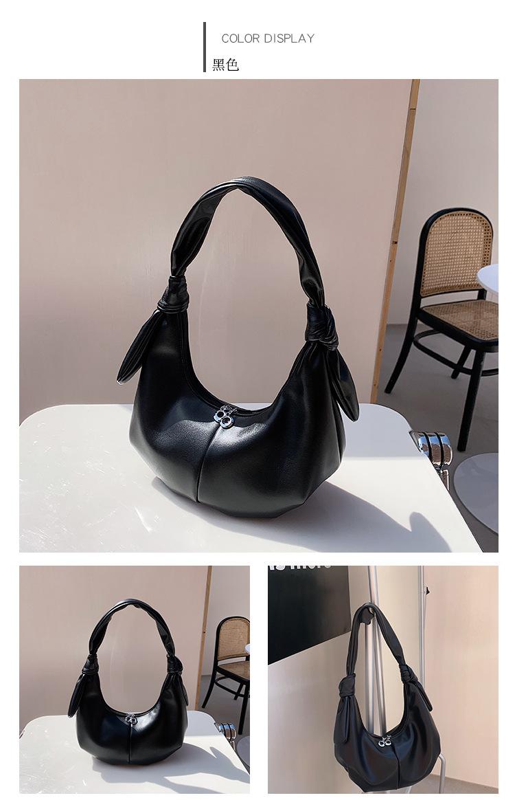 wholesale simple solid color fold crescent underarm bag NHLH345442