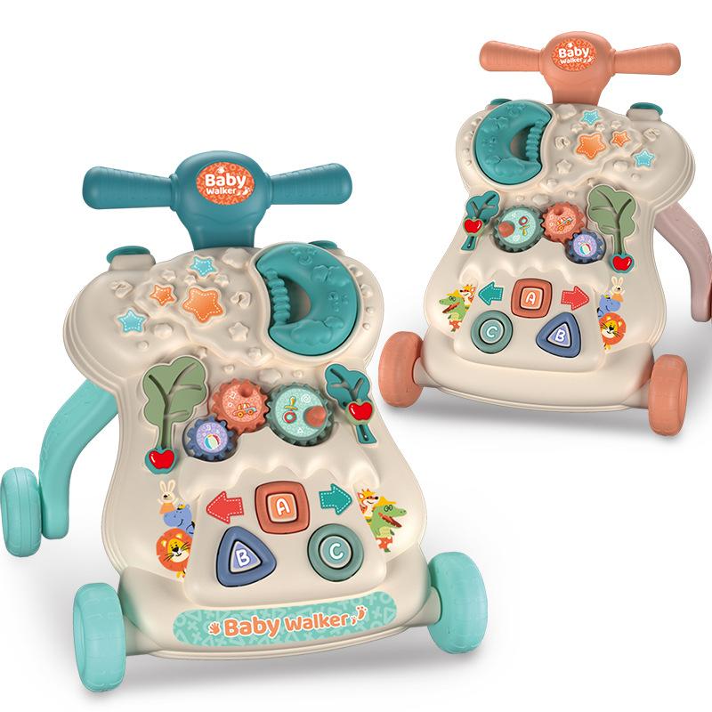 跨境婴儿学步车手推滑行车防侧翻多功能早教三合一助步玩具车宝宝