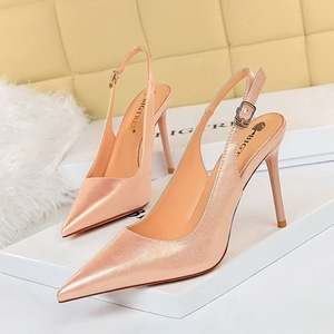 869-2 han edition contracted after ultra-high with shallow mouth pointed strappy hollow out a single shoe heels pedicure
