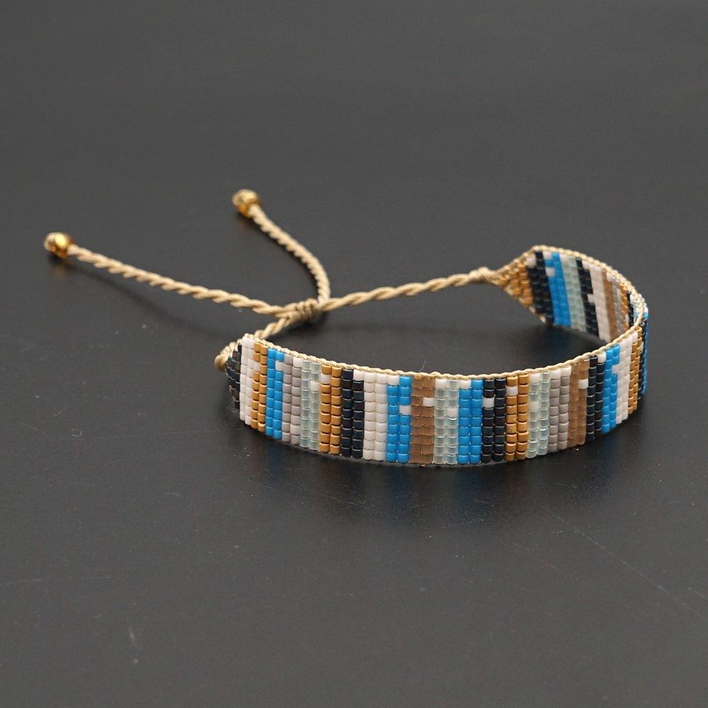 Miyuki rice beads handwoven bohemian retro bracelet NHGW307941