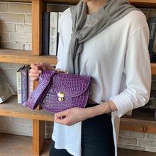 2021新款女士包包石头纹单肩马鞍包斜挎链条包womensbags跨境手袋