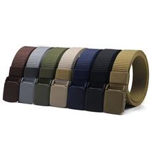 3.2CM尼龙防过敏塑料扣户外战术腰带自动扣训练军训帆布腰带