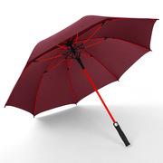 直柄伞高尔夫伞定制加固广告伞双人伞长柄伞自动雨伞定制LOGO