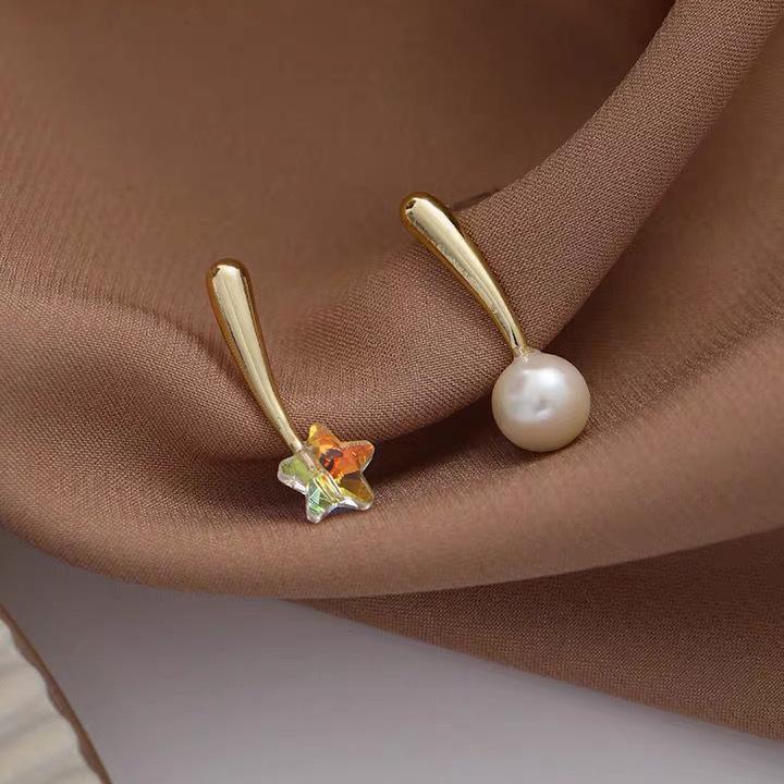 simple star pearl earrings wholesale NHAQ321302