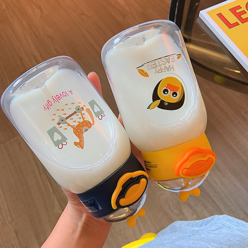 cute duck portable straw small plastic cup  NHtn369586