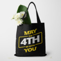 星球大战STAR WARS托特包MAY THE 4TH BE WITH YOU沙滩包帆布袋