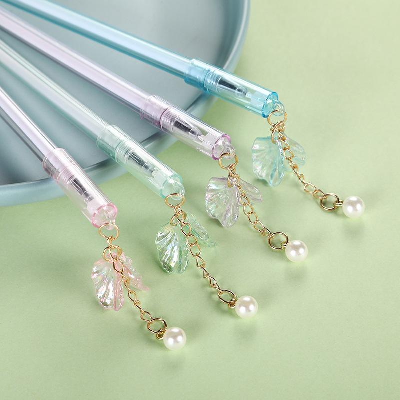 创意韩版小清新吊坠魔易擦可擦中性笔 学生可爱珍珠挂件签字笔