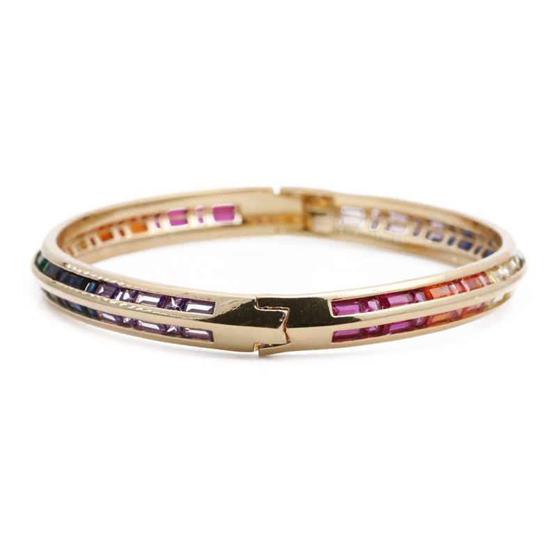 fashion zircon microinlaid color zirconium bracelet NHYL316668