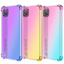 oppoA94手机壳A54适用Realme C25手机壳C21 Realme8渐变色A74防摔