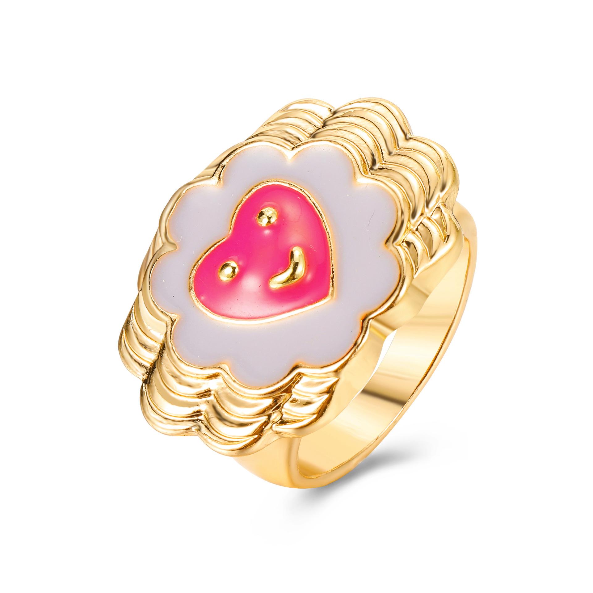 fashion cute fun heart shape ring  NHYI363821
