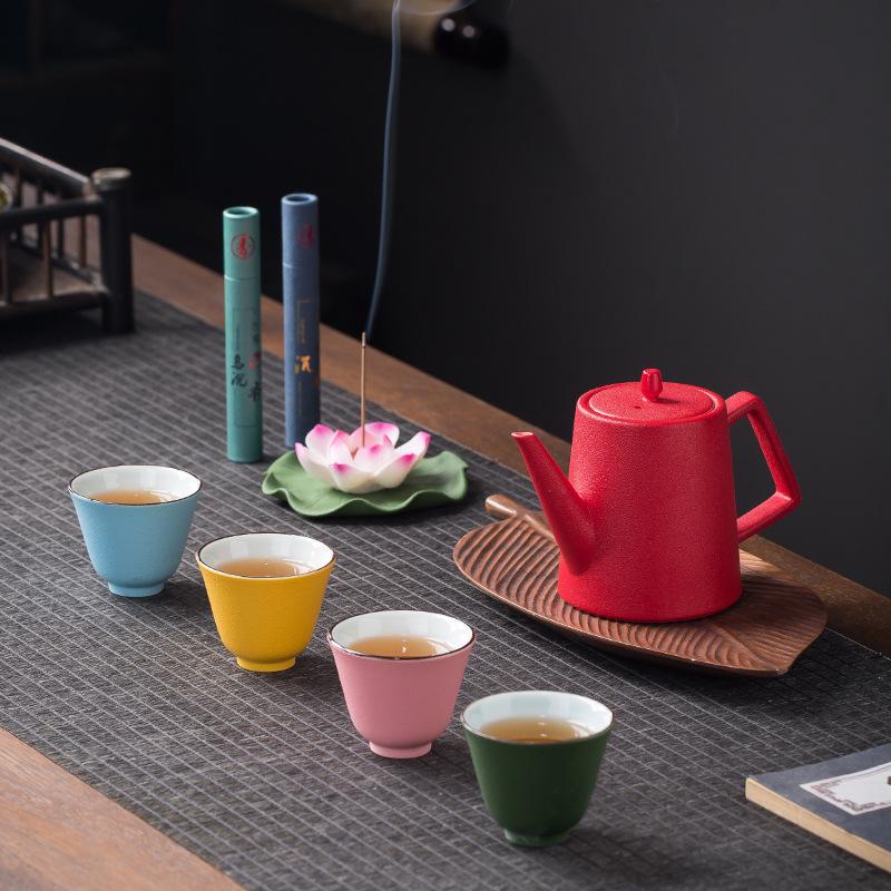 多彩功夫茶具套装一壶四杯茶具礼品定制便携茶具套装礼盒新品上市