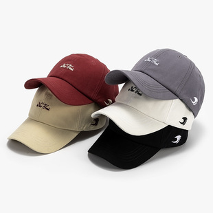 New style baseball cap Korean letter embroidered cap with curved brim twill cotton sun hat for men and women wholesale