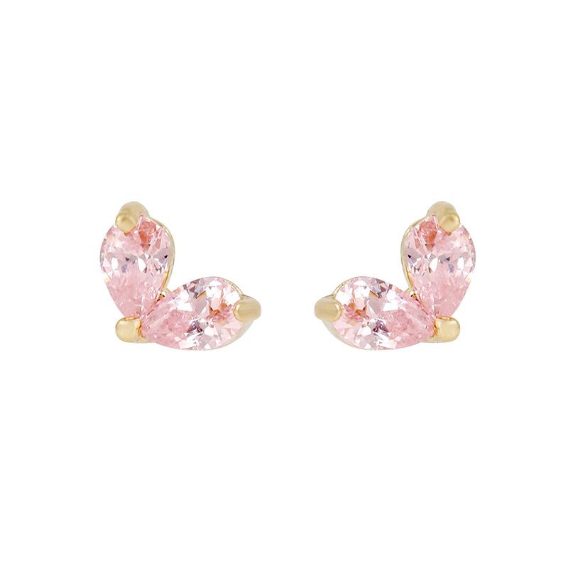 Wholesale summer zircon earrings 18K gold colorpreserving jewelry Nihaojewelry NHUW379094
