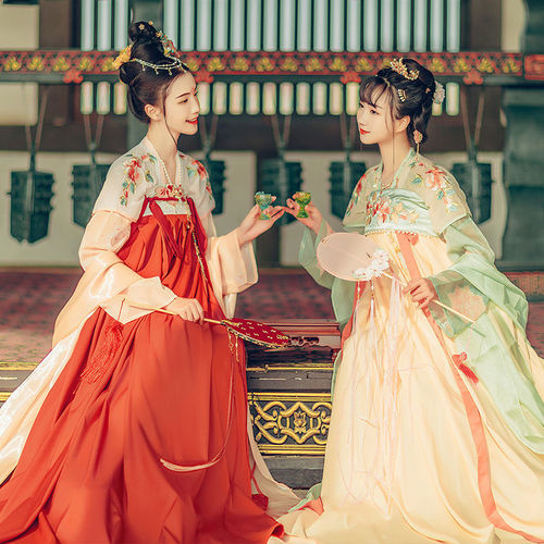Adult Hanfu fairy dress for women Chinese traditional folk costumes photos shooting film cosplay gown Breasted skirt Chinese style student fairy costumes