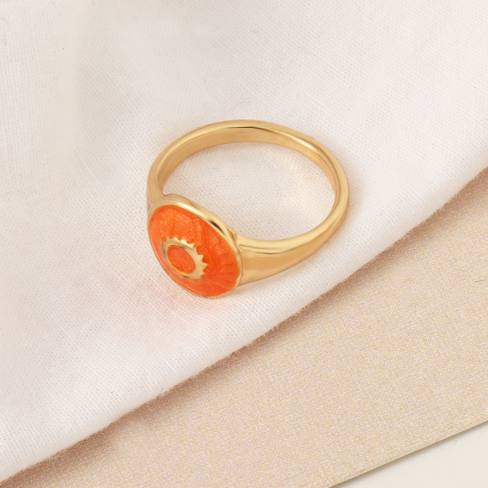 fashion contrast color stars moon ring wholesale  NHNZ357124