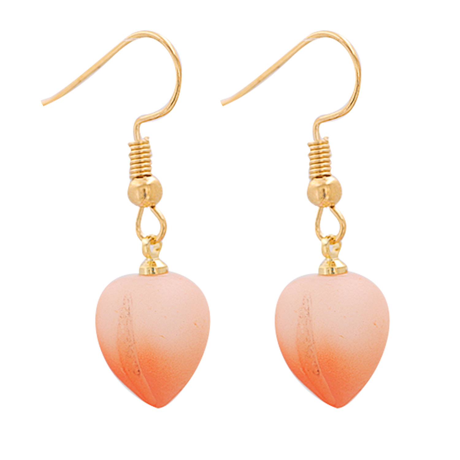 Korean Honey Peach Fruit Earrings Wholesale NHJJ336301