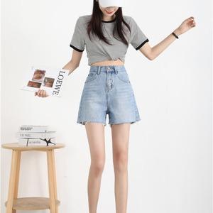 牛仔短裤女高腰2021新款夏季宽松a字阔腿热裤,女装牛仔裤,贝沣牛仔
