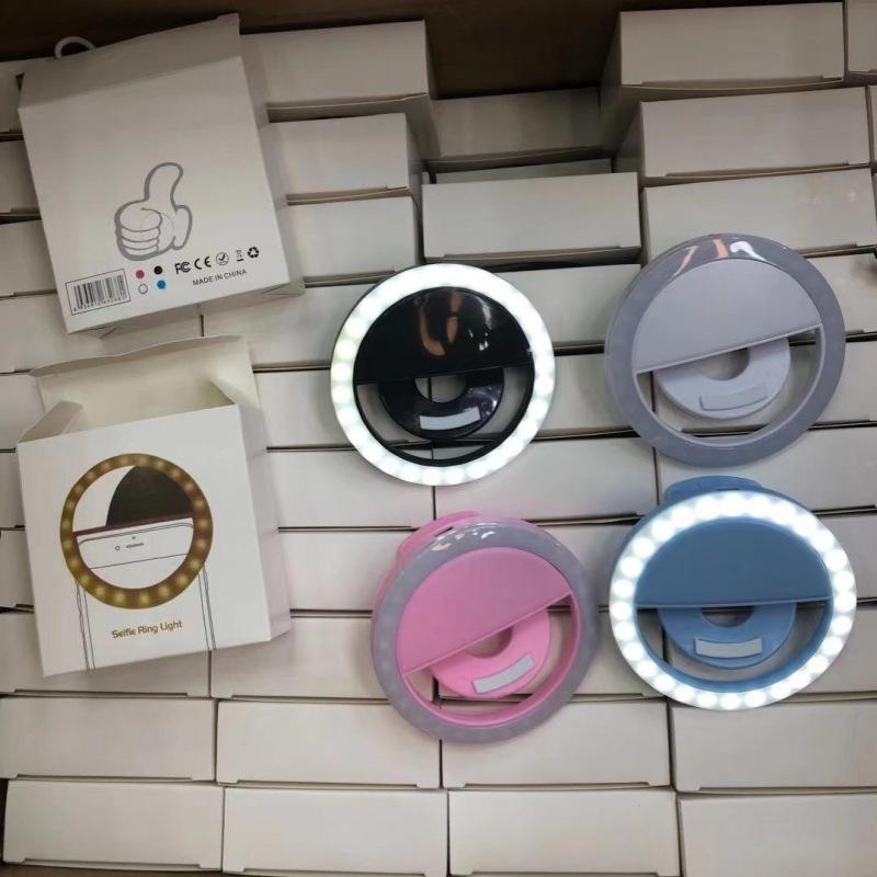 Mini ring light 迷你款 LED美颜直播灯USB手机充电款 RK12补光灯