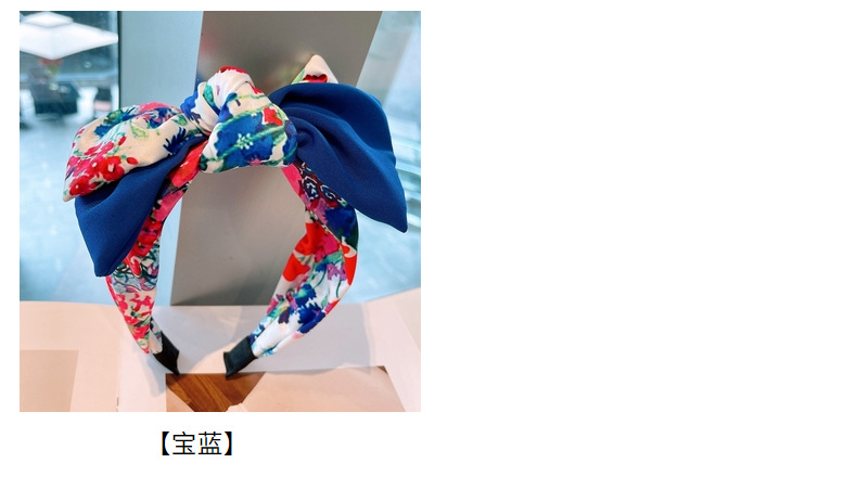 fashion big flower color matching headband  NHHD336087