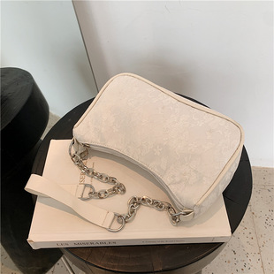 2021 new trendy summer forest crossbody lace one-shoulder female small bag underarm bag baguette bag small square bag