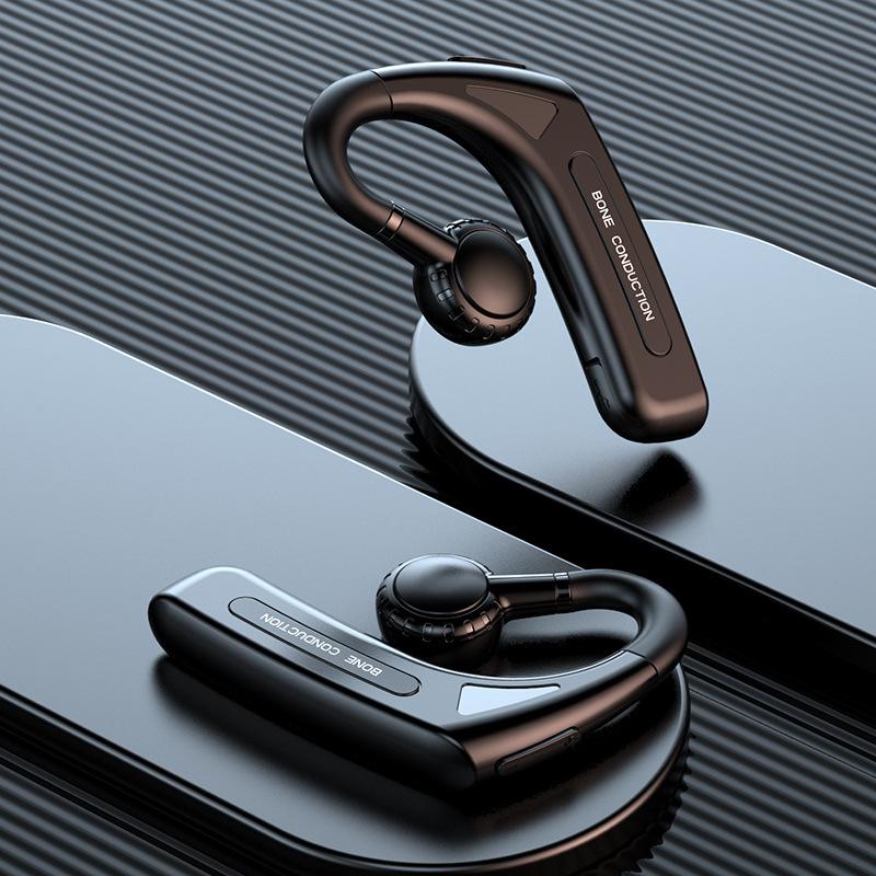 新款618蓝牙耳机真正骨传导挂耳式非入耳商务运动立体声私模跨境