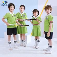 幼儿园园服夏装儿童校服女童连衣裙夏天小学生校服套装表演服Y815