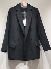 韩国东大门2021春装新款港味气质英伦风双排扣长袖小西装外套女潮