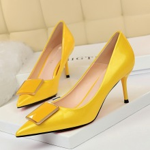 8999-2 Korean professional ol women's shoes high heels thin high heels shallow mouth pointed sexy thin buckle women's single shoes