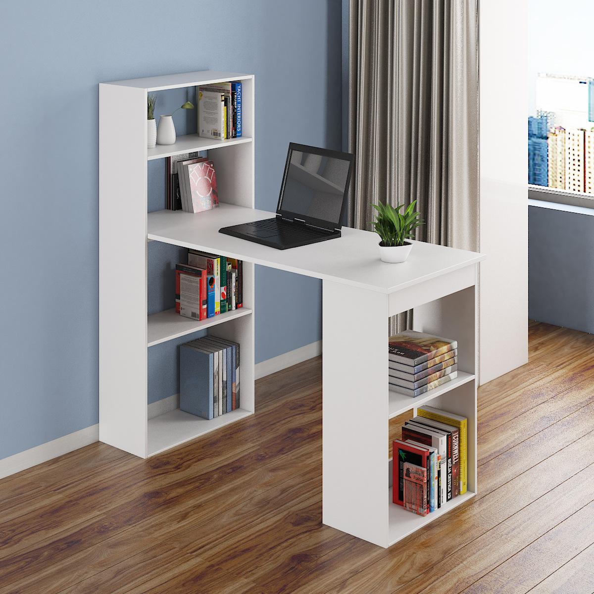 台式电脑桌现代简约壁挂卧室家用卧室书籍收纳柜可散热电脑桌