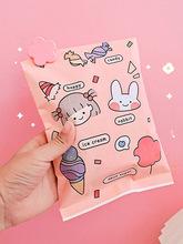 韩国ins彩色礼品袋简约小号纸质袋子杂物收纳袋糖果袋礼物包装袋