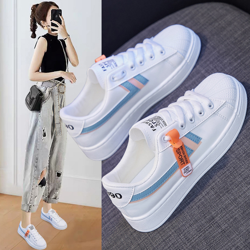 INS White Shoes Women Running Shoes Board Shoes Breathable Casual Shoes