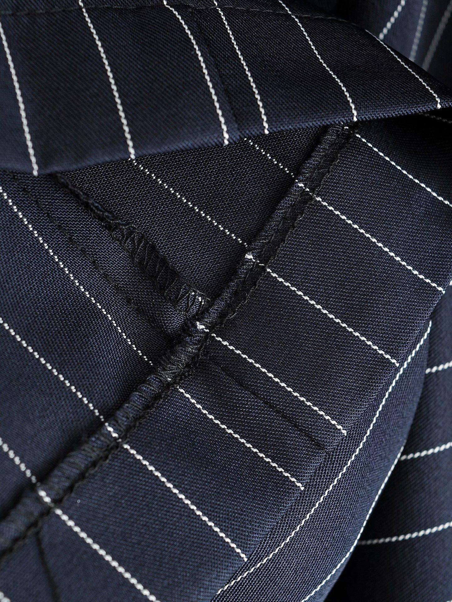 autumn women s single-breasted back-hollow lapel suit striped dress nihaostyles wholesale clothing NSXPF79671