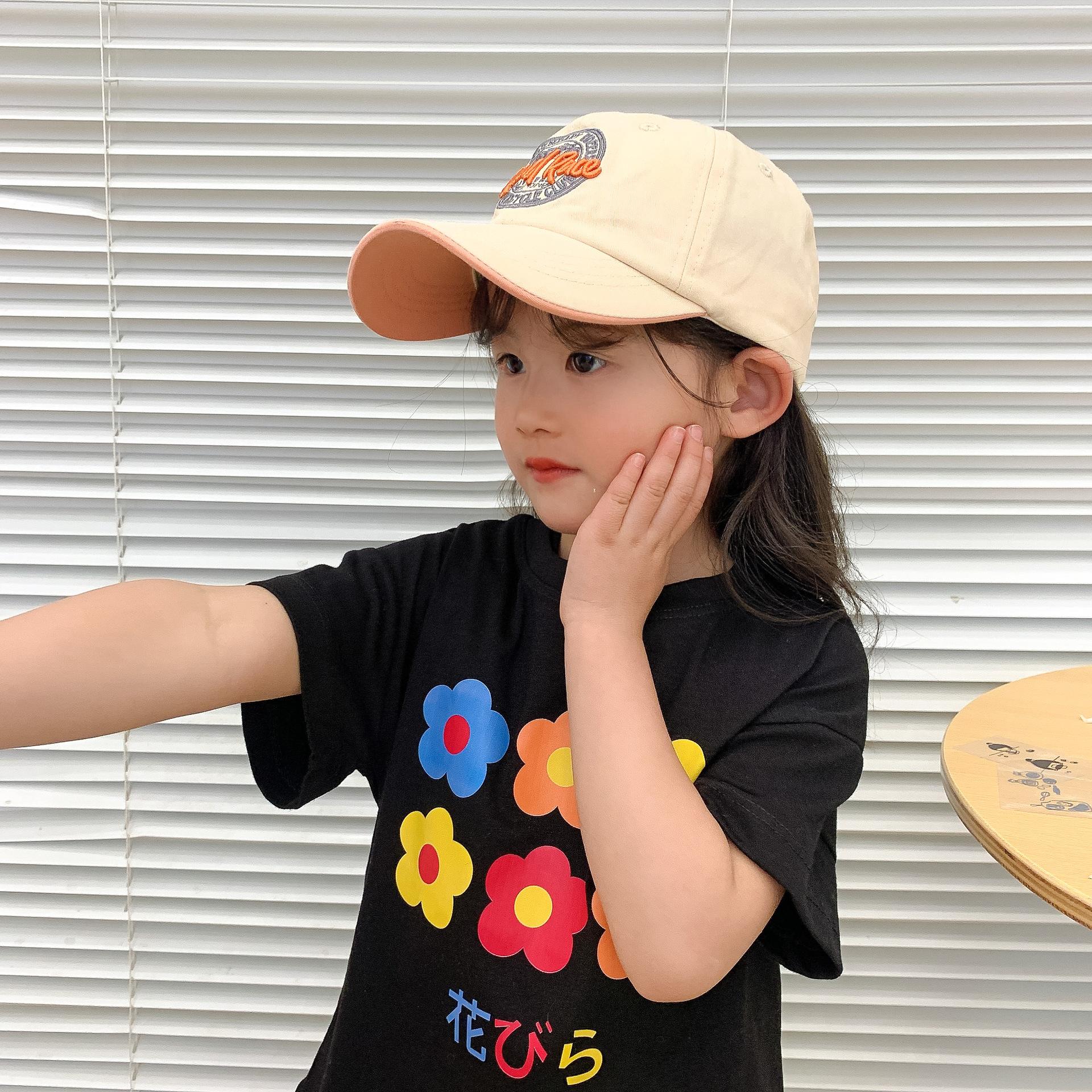 fashion printed letter multicolor childrens sun hat wholesale  NHCM340507