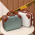 韩版手提14寸行李箱化妆品收纳拉杆箱旅行化妆包手提箱包ABS防刮