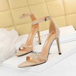 9926-6 European and American fashion sexy summer wind high-heeled shoes high heel with suede hollow out one word with sandals for women's shoes